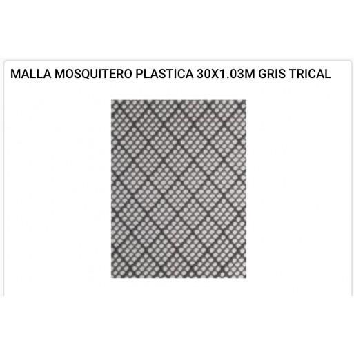 Malla mosquitero plástica 1x1.03 mts gris - hierropalermo.com