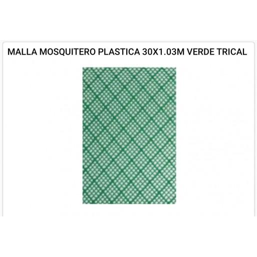 Malla mosquitero plástica 1x1.03 mts verde - hierropalermo.com
