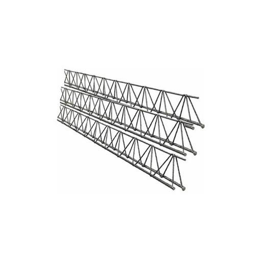 Cercha metálica de 6 metros de largo x 10 cm alto triangular