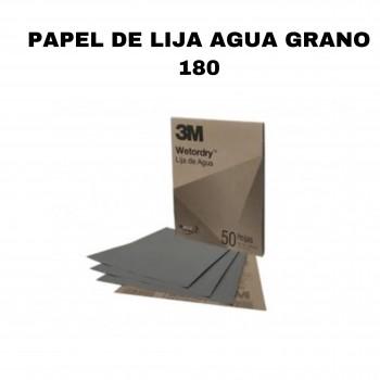 Papel de lija agua grano 180