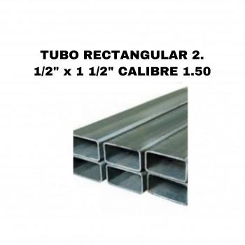 "Tubo rectangular 2 1/2"" x 1..."
