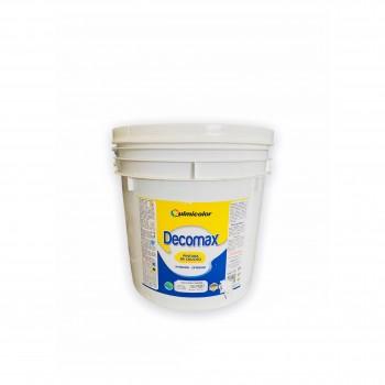 Cuñete de pintura de caucho color marfil 4 galones Decomax