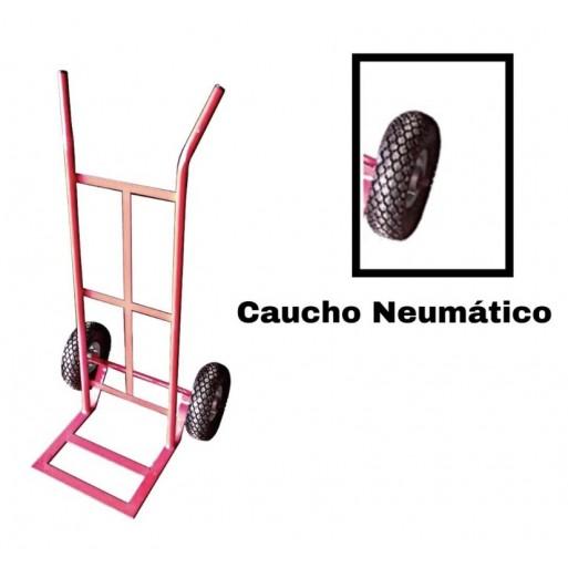 "Carrucha o carretilla con rueda neumatica de 10"""