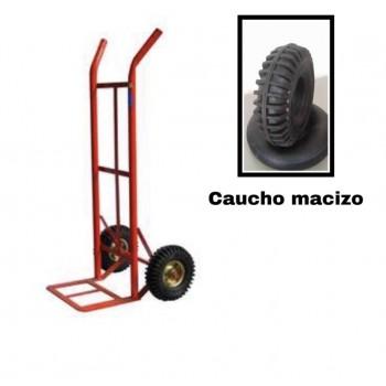 """Carrucha o carretilla con rueda maciza de 10"""""""