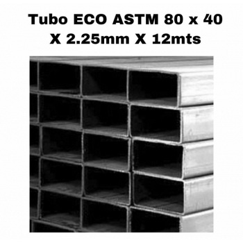Tubo est. 80 x 40 x 2.25 mm...