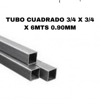 Tubo cuadrado 3/4 x 3/4 x...