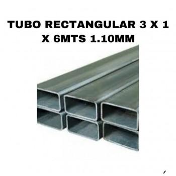 Tubo rectangular 3 x 1 x...