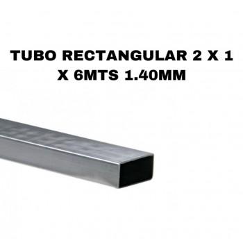 Tubo rectangular 2 x 1 x...