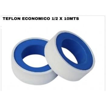 """Teflon economico 1/2"""" x 10m"""