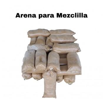 Arena para mezclilla por saco.