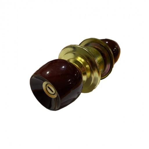 Cerradura de pomo sin llave madera oscura - hierropalermo.com